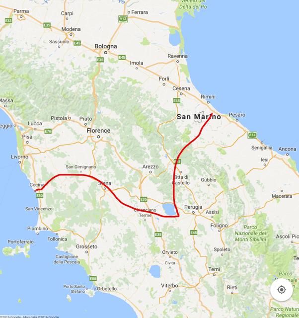 Run across Italy Andrew Townsend