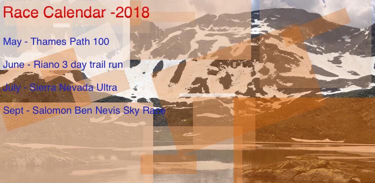 2018 Race Calendar – Andrew Townsend