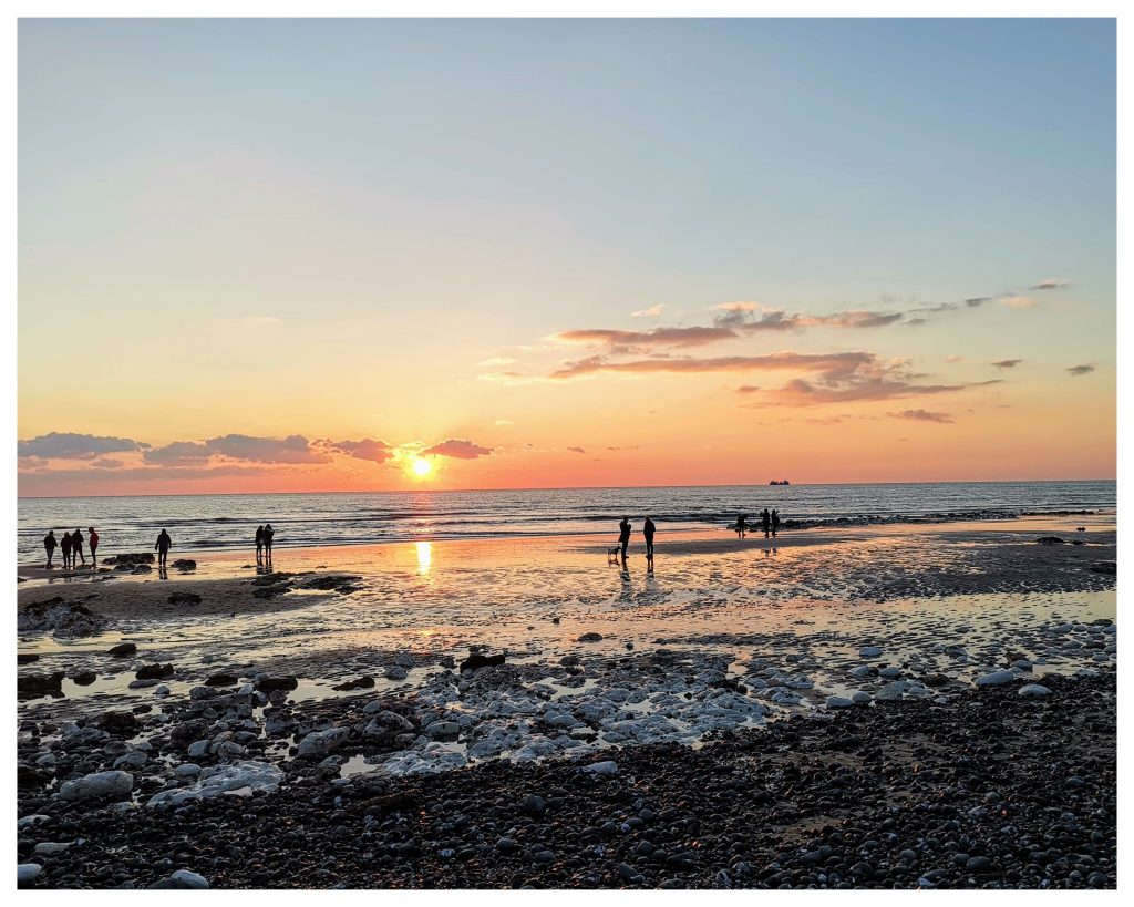 Sunset at Birling Gap