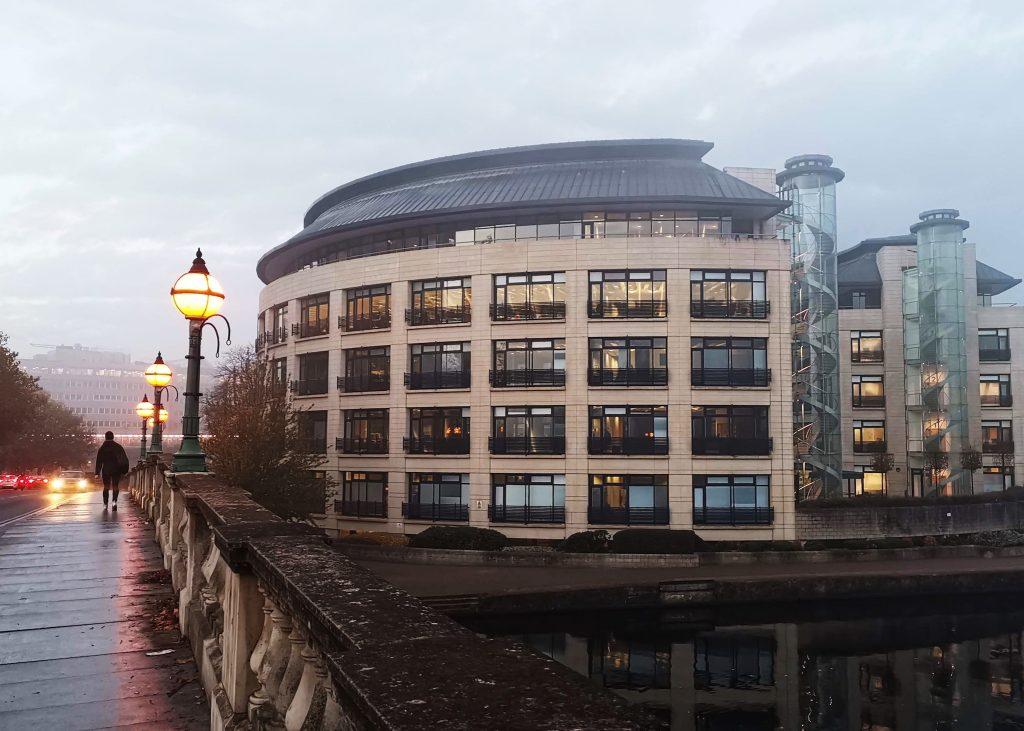 Reading Bridge at Dawn